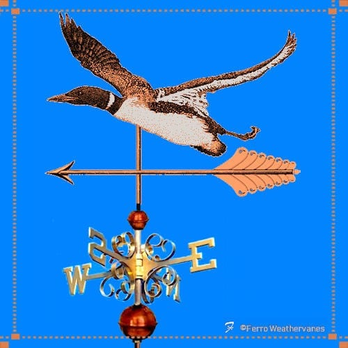 Flying Loon Weathervane – Chevalier Residence