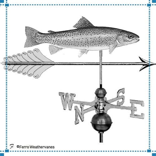 Trout & Arrow Weathervane – Purry Residence