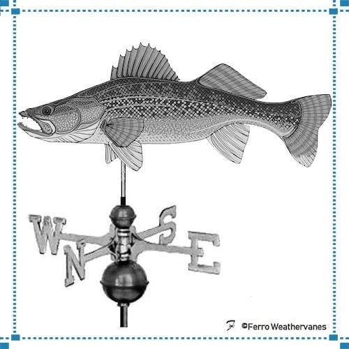 Walleye Weathervane – Nikkel Residence