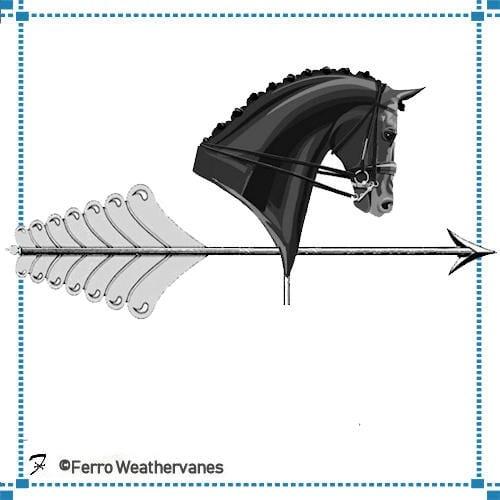 Horse Head Logo Weathervane – Milea Estate Vineyard