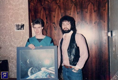 Hanging out with Bob Eggleton in 1985