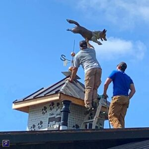 Corgi Weathervane, Running